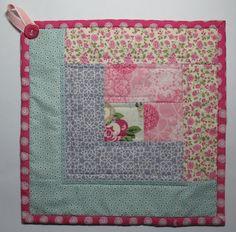 Stampin' Up!  Flirtatious Fabric  Cheryl Garratt  Quilted Potholder Tutorial