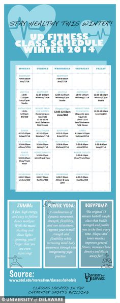 Stay in shape this winter with UD fitness classes.