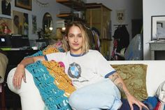 An+Inside+Look+at+Jemima+Kirke's+Brooklyn+Art+Studio+via+@MyDomaine