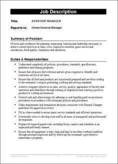 simple job description template