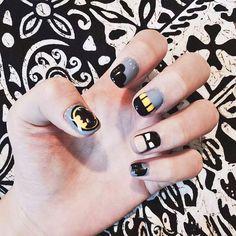 24pcs Cartoon Batman Short Full False Nails Finger DIY Manicure Nail Art Tips #Unbranded