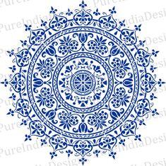Mandala svg Arabic Mandala Round Pattern Stencil E Mandala Design, Mandala Art, Mandalas Painting, Mandala Stencils, Mandalas Drawing, Mandala Pattern, Tableau Design, Tree Svg, Mandala Coloring