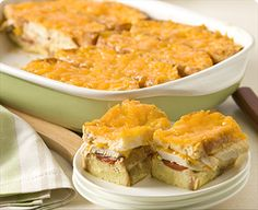 Italian Chicken Strata: Good as just sandwiches without the mixture