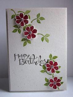 Happy Birthday - mit geprägtem HG sicher auch sehr schön