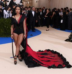 Never thought i would pin her one day...Nicki Minaj at Met Gala 2017
