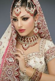 Pakistani Bridal Jewellery - red and white