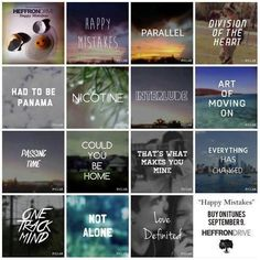 Happy Mistakes track list - Heffron Drive.