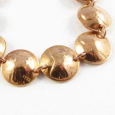 1972 Pennies Bracelet by christinavitale on Etsy, $23.00 Happy 40th Birthday, Birthday Tags, Penny Bracelet, Longing For You, Pennies, Bracelet Making, Making Out, Dangles, Pearl Earrings