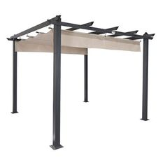 Coolaroo Aurora 10 Ft. W x 10 Ft. D Aluminum Grill Gazebo Roof Color: Smoke