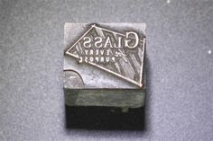 """(S-10) Antique/Vintage Newspaper Printing Block """"Glass for every purpose"""""""