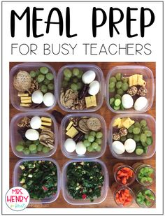Easy and Healthy Meal Prep Ideas for teachers! - Easy and Healthy Meal Prep Ideas for teachers! Healthy Lunches For Work, Work Meals, Prepped Lunches, Work Lunches, School Lunches, Fitness Meal Prep, Paleo Meal Prep, Advocare Meal Prep, Easy Lunch Meal Prep