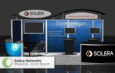 I wonder how these guys have the TV mounted? We should look into doing something like that for Henkaa   Tradeshow Booth Design - Katie Bush Design | KBD Strategic Design Consultants Katie Bush Design | KBD Strategic Design Consultants