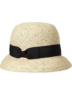 Women's Straw Cloche Hats
