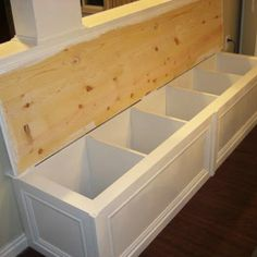 The IKEA Kallax series Storage furniture is an important section of any home. Stylish and delightfully simple the ledge Kallax from Ikea , for example. Corner Banquette, Banquette Seating, Kitchen Banquette, Corner Bench, Ikea Regal, Ikea Bookcase, Bookcase Storage, Storage Stairs, Bookcase Bench