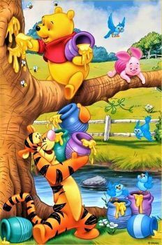 *POOH, PIGLET & TIGGER ~ Even though Tigger doesn't like it's so sweet of him and Piglet to help Pooh to gather honey! The post Even though Tigger doesn't like it's so sweet of him and Piglet to help … appeared first on Paris Disneyland Pictures. Cute Winnie The Pooh, Winne The Pooh, Winnie The Pooh Quotes, Walt Disney, Disney Art, Disney Pixar, Eeyore, Tigger, Winnie The Pooh Pictures
