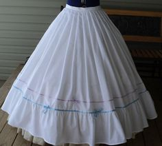 Civil War Era cotton muslin pleated waist by HeritageDressmakers