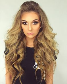 half up half down with big loose waves & smokey eyes ~  we ❤ this…