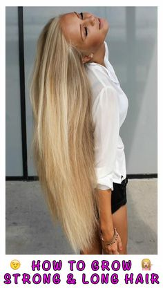 Stop using fake hair extensions and grow your hair naturally. Learn How: