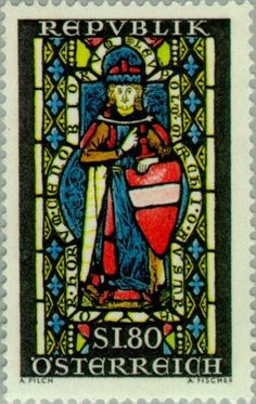 Stamp%3A%20Leopold%20the%20Holy%20(c.%201075-1136)%20glass%20painting%20Brunnenhaus%20(Austria)%20(Leopold%20the%20Holy)%20Mi%3AAT%201252%2CSn%3AAT%20804%2CYt%3AAT%201086%2CAFA%3AAT%201151%2CANK%3AAT%201282%20%23colnect%20%23collection%20%23stamps