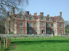 Breamore House, Surrey.  Gabled Elizabethan manor house of deep red brick with interiors rebuilt in 1856