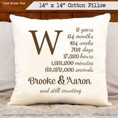 2nd anniversary cotton gift personalized anniversary by iXiDesign