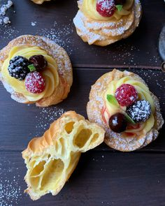 Healthy Cooking, Cooking Recipes, Donuts, Profiteroles, Something Sweet, Italian Recipes, Delicious Desserts, Sweet Tooth, Good Food