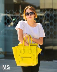 THE SHADY SIDE: street style inspirations: cool sunglasses and yellow bags