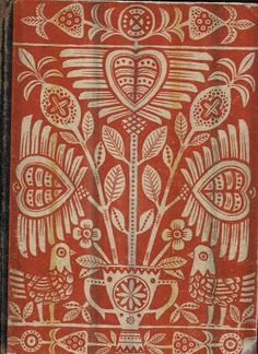 German Folk Art… details and color - stencil or screen print
