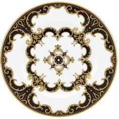 Marchesa by Lenox Baroque Night Salad Plate ($46) ❤ liked on Polyvore featuring home, kitchen & dining, dinnerware, fillers, circle, kitchen, backgrounds, circular, round and borders