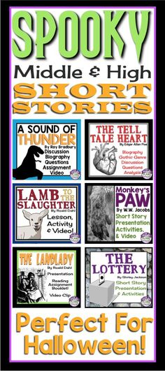 Spend the month of October introducing your students to creepy, freaky, and spooky short stories leading up to Halloween. These stories are always a huge hit with my students!