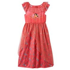 Disney's Elena of Avalor Girls 4-10 Glitter Tulle Nightgown
