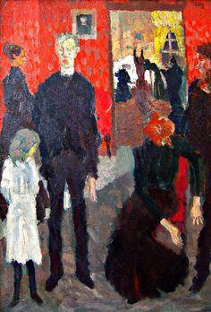 Beckmann, Max Beckmann, Petite scène près de la chambre mortuaire - Altenationalgalerie, Berlin