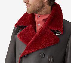 Hermès Sailor jacket in contrasting lamb.