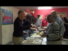 Obama  family stopped in at the Friendship Place Homeless Center in Washington D.C and spent the evening serving up meals for hungry, at-risk people.