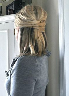 half up half down | Hairstyles and Beauty Tips | best stuff