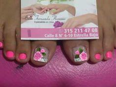 Nail Designs, Lily, Floral, Toenails, Safe Room, Work Nails, Pretty Toe Nails, Simple Toe Nails, Toe Nail Art