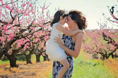 Family session in the Peach Orchards