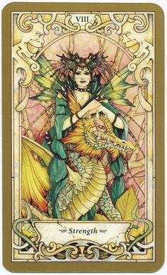 Đọc Lá Strength - Mystic Faerie Tarot bài tarot Xem thêm tại http://tarot.vn/la-strength-mystic-faerie-tarot/