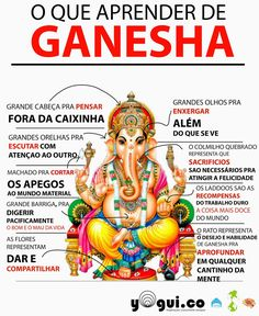 Ganesha - O Deus do Sucesso e removedor de obstáculos, um das principais deidades hinduístas. Filho dos Deuses Shiva e Parvati, Ganesha também é conhecido como o Deus da Educaçã, conhecimento, sabedoria e riqueza.