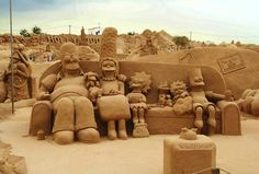 Fiesa Sand Sculpture Festival   The Simpsons, Darth Vader & More