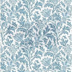 I <3 William Morris! Teal William Morris Thistle Pattern by Antique_Images