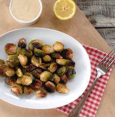 Easy Roasted Brussels Sprouts with Dressing