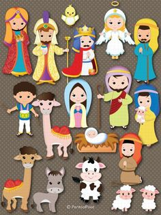 Best 12 Nativity clipart Cristmas clipart Jesus Mary by PentoolPixie Magical Christmas, Christmas Nativity, A Christmas Story, Christmas Art, Christmas Decorations, Christmas Ornaments, Nativity Clipart, Nativity Crafts, Bible Crafts