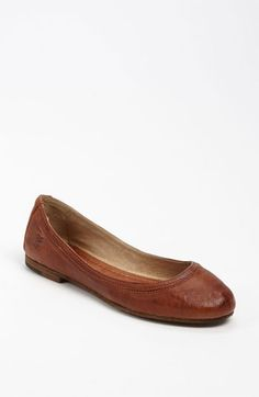 Frye 'Carson' Ballet Flat - tried these on and are seriously THE most comfortable flats I have ever worn. Gonna have to watch these :P