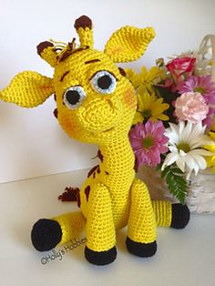 Paisley the Giraffe is the perfect size for snuggles of any age. Gauge is not necessary when making Paisley, the end result may vary slightly in size depending on tension. Paisley will finish at approximately 13 inches in height from top of head to bottom of hooves depending on tension.