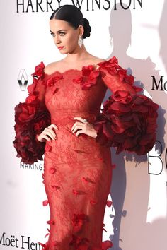 Katy Perry in Marchesa at the amfAR The Foundation for AIDS Research 23rd Cinema against AIDS gala at #CANNES2016