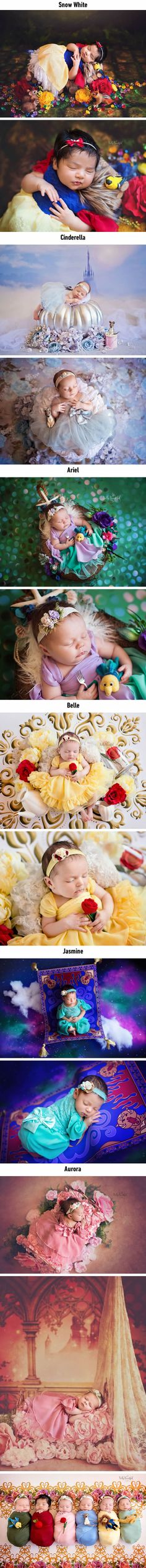 Adorable Photos Of Newborns Dressed As Disney Princesses - 9GAG
