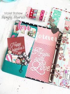 February planner set up by design team member Violet Ballew