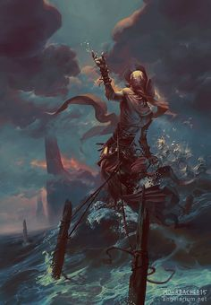 Ananiel, Angel of Storms by PeteMohrbacher