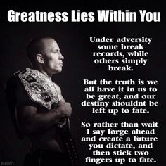 George's St Pierre #GSP says: Greatness Lies Within You